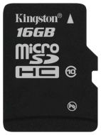MicroSDHC/Transflash Class10 16 Gb Kingston SDC10/16GBSP